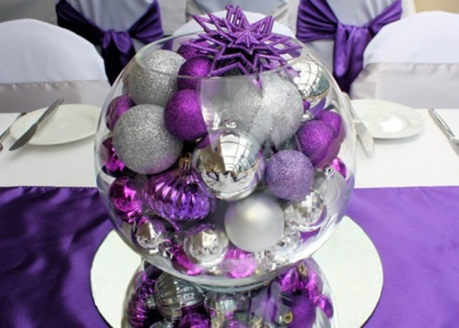 decorated-tabletop-christmas-trees-Ideas-white-red-purple-and-teal