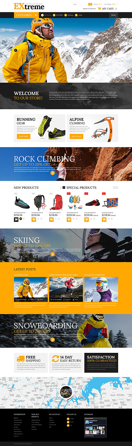 Extreme Sports Clothing Gear Magento Theme