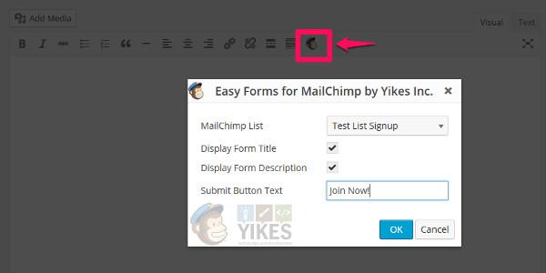 easy form mailchimp