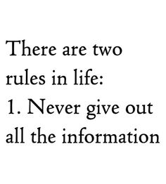 2rulesinlife
