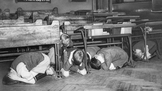Duck and Cover drill, 1950s