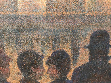 Georges Seurat, detail from Parade Sideshow (1887-88), MET Museum