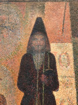 Details from George Seurat, Circus Sideshow, 1887-88, The Met
