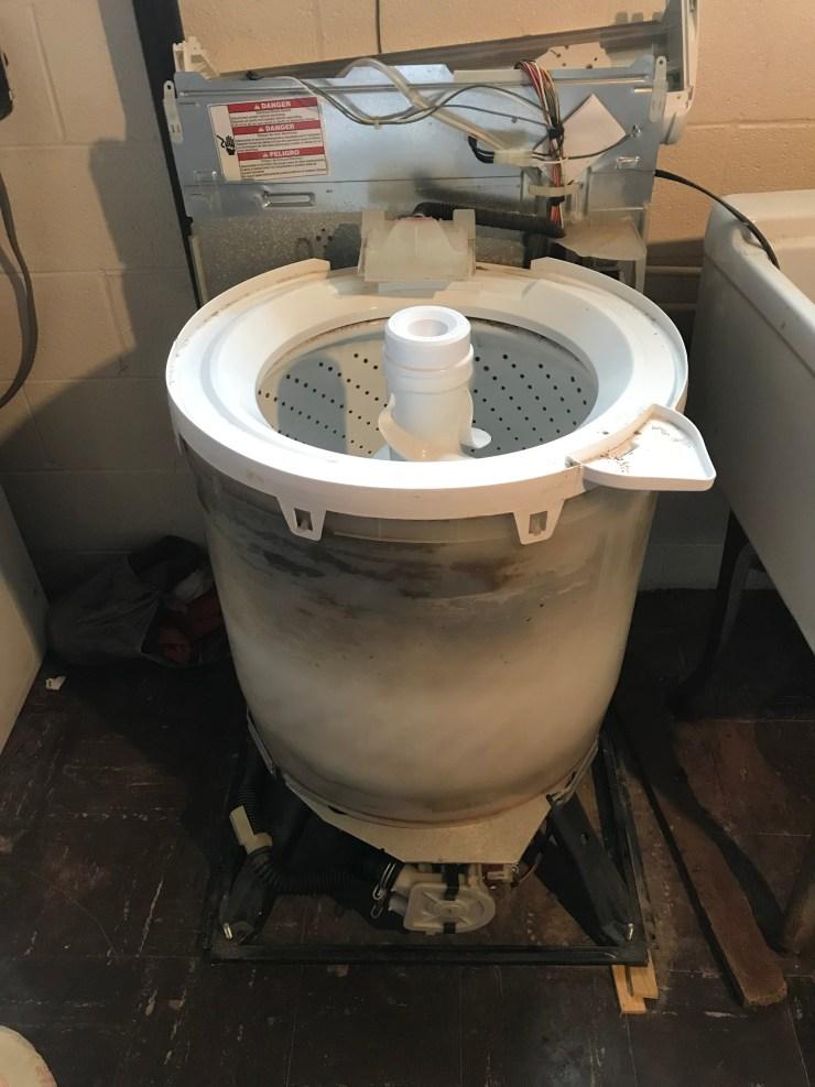Washing Machine Cover Off