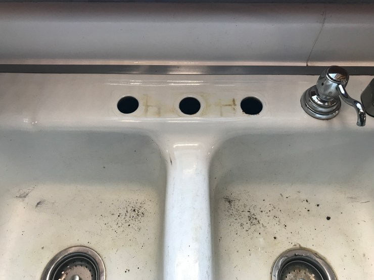 Faucet Removed