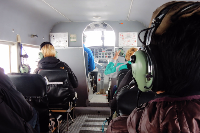 Talkeetna airtaxi- Vliegtocht met landing op Gletsjer