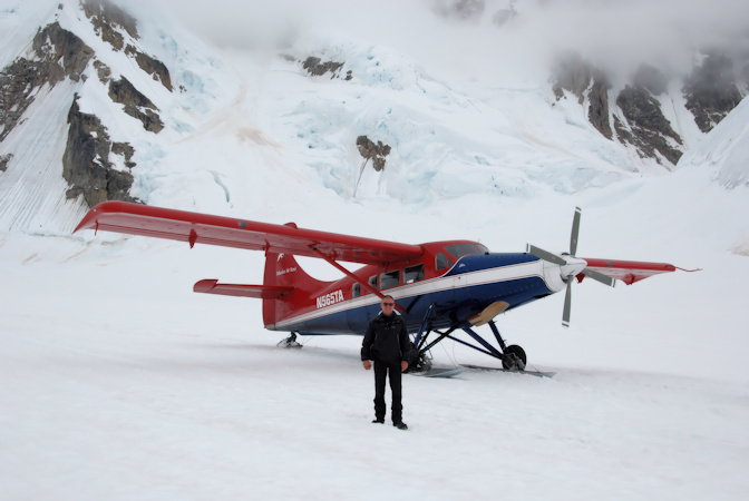 Talkeetna airtaxi, Vliegtocht landing Gletsjer, Alaska