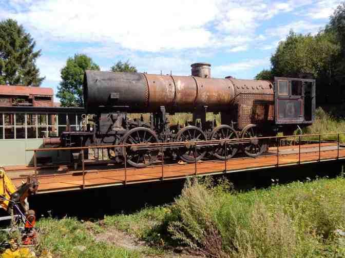 Stoom Loc E 1090 op draaischijf station Simpelveld ZLSM