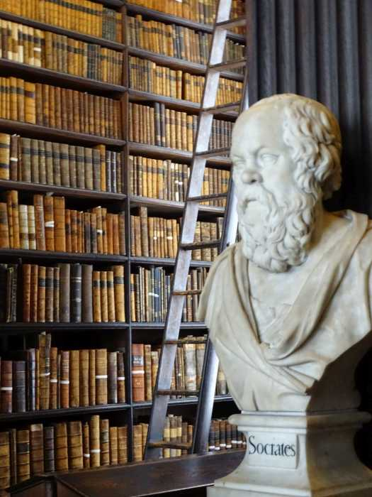 Trinity College - Old Library - Buste Socrates.