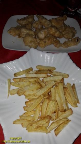 Fisch Tampura und Pommes