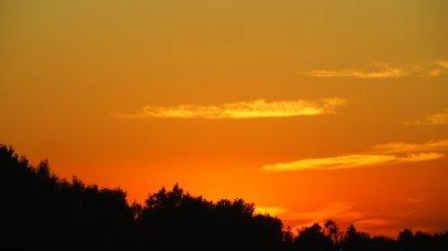 Sonnenuntergang in Orange