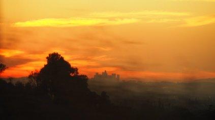 Sonnenuntergang über LA