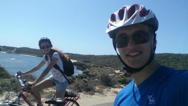 Backpacker Trip mit Fahrrad