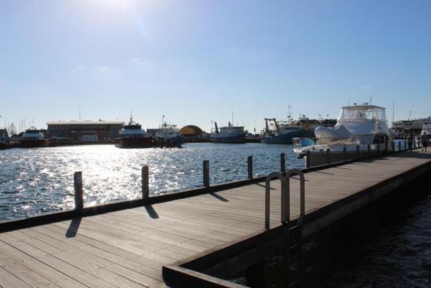 Super Wetter am Hafen in Freementle