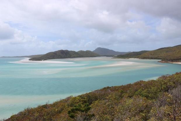 Blaues Meer beim Backpacker Ausflug