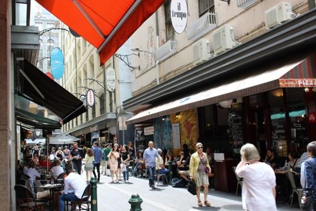 Straße in Melbourne Australien