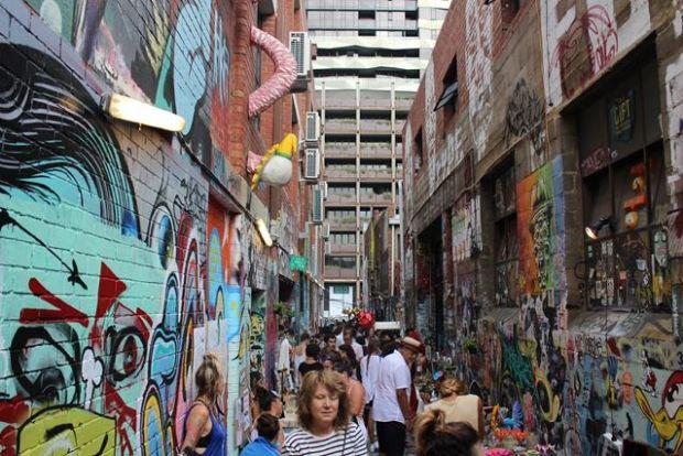 Sprühkunst in Australien Melbource