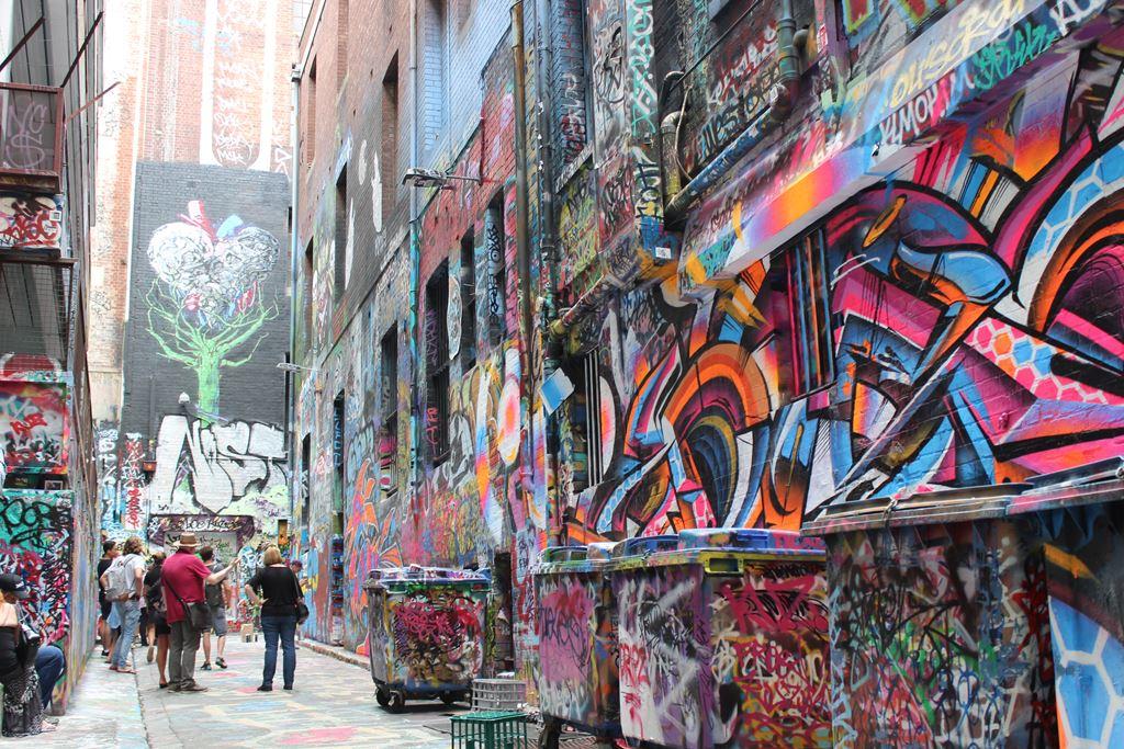 Graffiti im australischem Melbourne