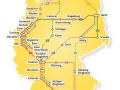 ADAC Postbus APP Streckennetz