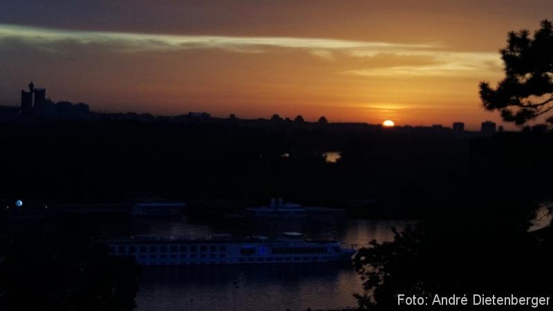 Belgrad - Sonnenuntergang