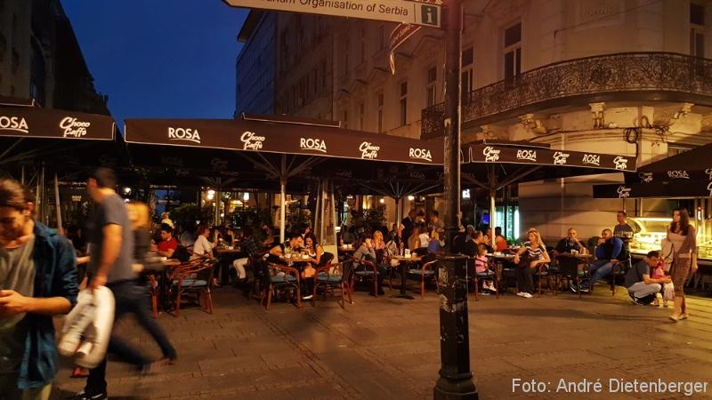 Belgrad - Knez Milhailova Nachtleben