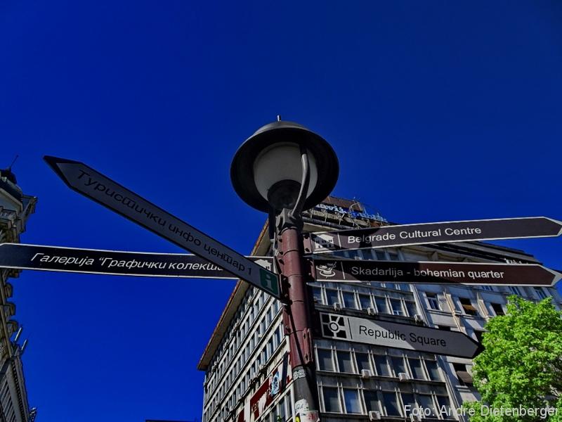 Belgrad - Wegweiser