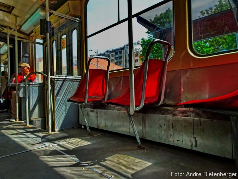 Belgrad - Straßenbahn Tatra Sitze