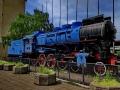 Belgrad - alte Dampflok am Hauptbahnhof