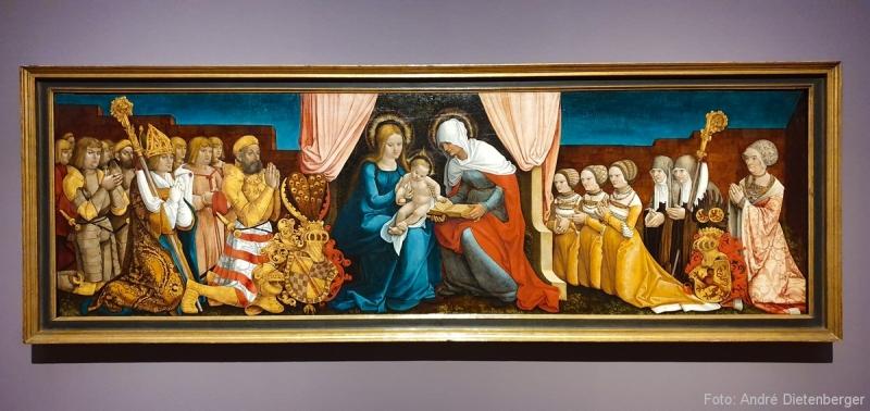 Markgraf Christoph I. von Baden mit seiner Familie in Verehrung der heiligen Anna Selbdritt (um1510)