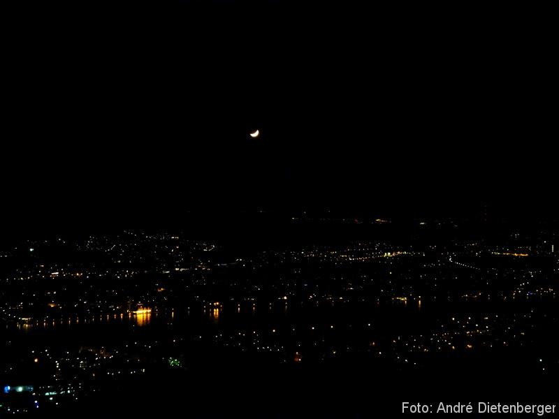 Grandhotel Petersberg - Blick nachts vom Petersberg