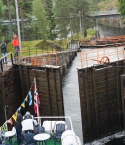 Fascinerende sluser i Telemarkskanalen