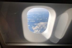 Utsikten fra toalettet på SAS. Ingen fare for at folk skal titte inn uansett.
