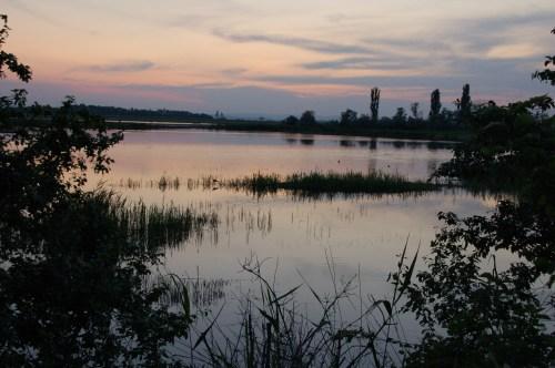Sonnenuntergang Nationalparkschild