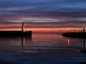 Sonnenuntergang im Hafen von Mommark