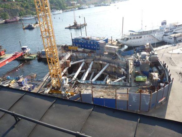 Baustelle im See