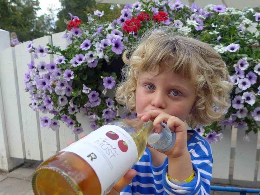 Bio-Apfelsaft saft süßer Softdrinks.Ich habe noch keinen Themenpark besucht, wo es so gesundes Essen gibt
