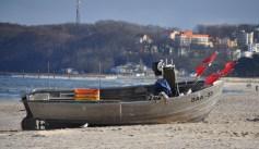 Fischerboot am Strand von Rügen