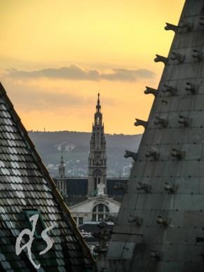 Sonnenuntergang vom Dach