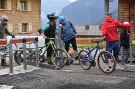 Bikepark Warteschlange Lift