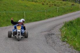 Vater und Sohn 2 Bikepark Mountaincart