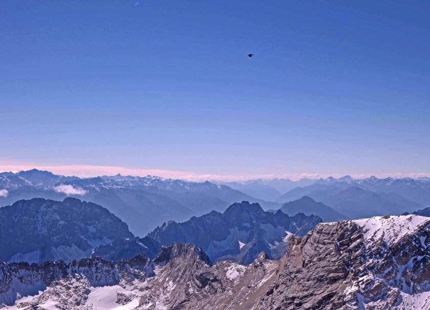 Bergpanorama von der Zugspitze