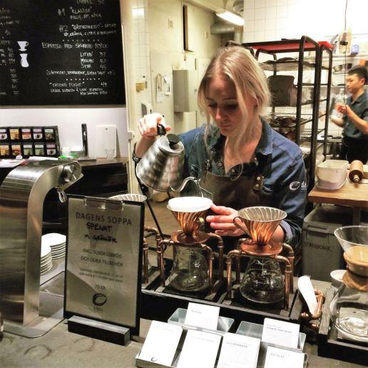 Handgebrühter Kaffee aus eigener, extra milder Röstungbei Da Matteo