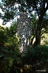 Skulptur von Keith Haring im Andre Heller Garten