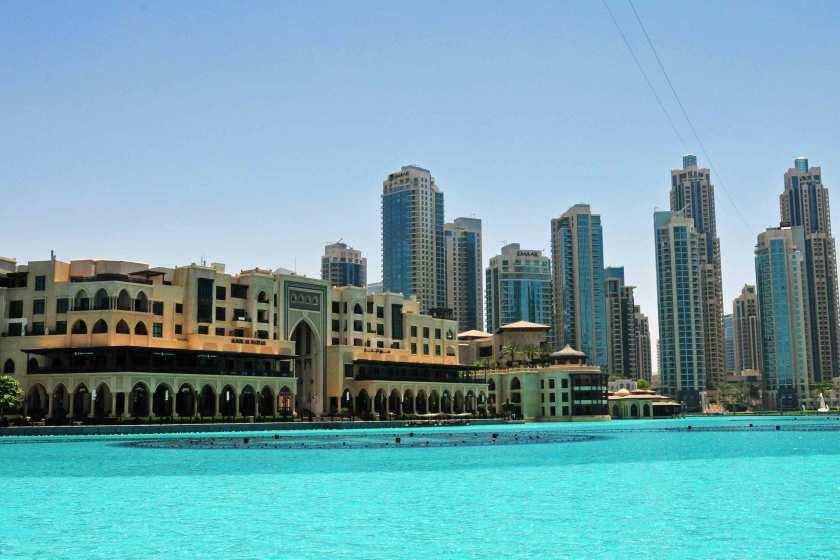 Lake Burj Khalifa, auf dem abends sie Wasserfontänen tanzen