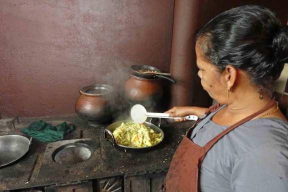 Das Gemüse wurde gerade geerntet und frisch gekocht.