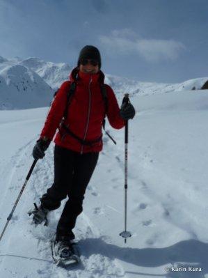 Vinschgau. Schneeschuhwandern im Rojental. Kura