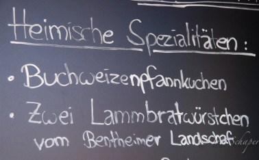 Schild Emsland Buchweizenpfannkuchen