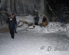 Nachtwanderung im Eiscanyon bei Jasper