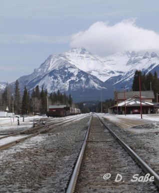 Bahngleise bei Banff
