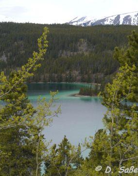 Sommer-See und Schneegipfel